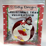 Christmas Owl Tree Ornament, By Ditsy Designs