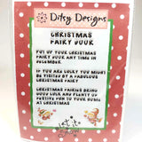 Christmas Fairy Door In Pink and Red, By Ditsy Designs