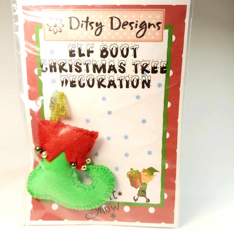 Elf Boot Christmas Tree Ornament, By Ditsy Designs. Parade-Handmade