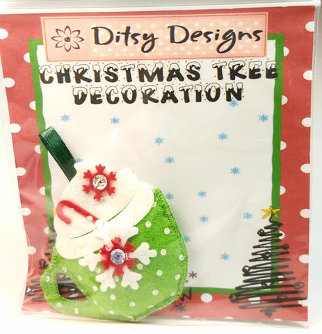 Festive Hot Cuppa Tree Ornament, By Ditsy Designs