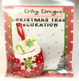 Festive Hot Chocolate Ornament, By Ditsy Designs. Parade-Handmade