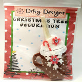 Festive Hot Chocolate Tree Ornament, By Ditsy Designs. Parade-Handmade