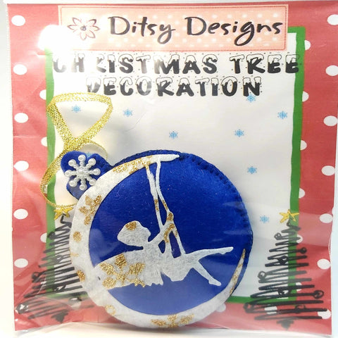 Felt Fairy Christmas Tree Ornament In Blue, By Ditsy Designs. Parade-Handmade