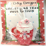 Festive Hot Cuppa In A Mug Ornament, By Ditsy Designs. Parade-Handmade