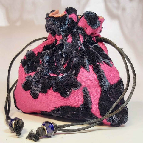 Jewellery Pouch In Pink and Black, By Parade - Parade Handmade