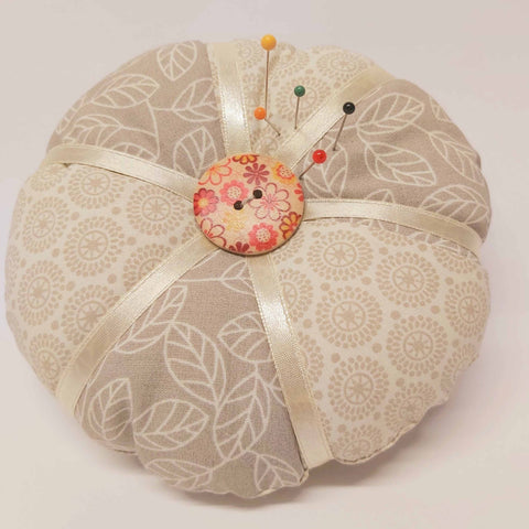 Vintage Style Pin Cushion, Natural Floral, By JaDa Crafts Ireland - Parade Handmade Co Mayo