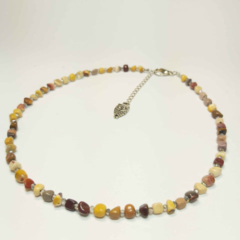 Gemstone Necklace of Jasper and Crystal, By Lapanda Designs - Parade Handmade