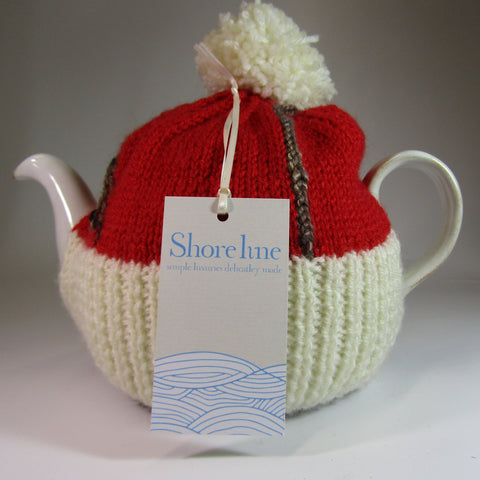 A chocolate drizzled, bun style Tea Cosy, by Shoreline. - Parade Handmade