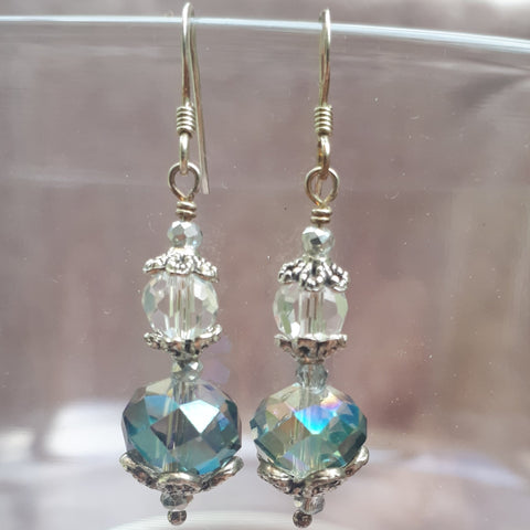 Antique Style Crystal & Glass Drop Earrings, By Lapanda Designs - Parade Handmade