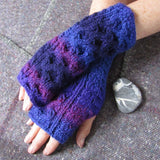 Aran style Wrist Warmers, By Bridie Murray - Parade Handmade