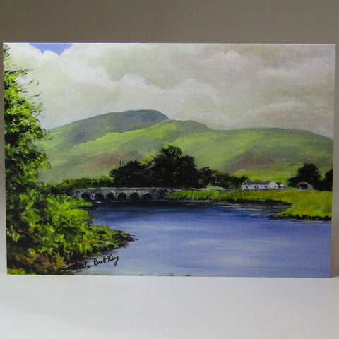 Art Card, 'Burrishoole Bridge, Newport, Co. Mayo', by Nuala Brett-King - Parade Handmade