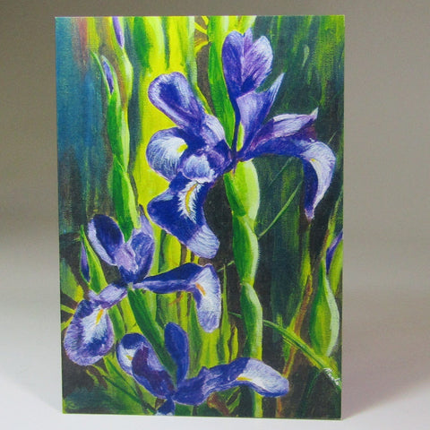 Art Card, 'Irises', by Nuala Brett-King - Parade Handmade