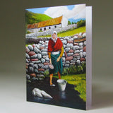 Art Card, 'Jobs for the Girls', 'To Fetch a Pail of Water', Achill Island, by Noreen Sadler - Parade Handmade