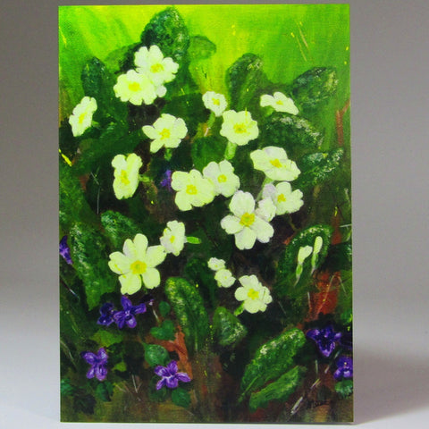 Art Card, 'Primrose & Violet', by Nuala Brett-King - Parade Handmade