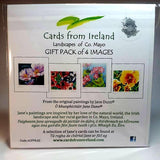 Art Cards Pack Of Four, Garden Flowers, By Jane Dunn - Parade Handmade