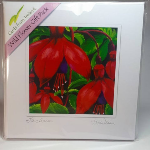Art Cards Wild Flower Gift Pack, Four Scenes By Jane Dunn - Parade Handmade