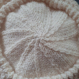 Attractive Aran Knit Hat In Cream, By Jo's Knits - Parade Handmade