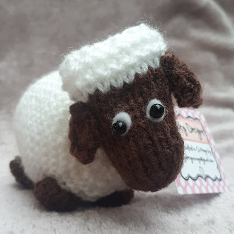 Baa! Eimer, the sheep from Newport, sporting a blue, By Ditsy Designs - Parade Handmade