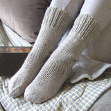 Beige Handknitted Socks For Ladies, By Jo's Knits - Parade Handmade