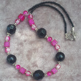 Black & Hot Pink Statement Necklace, By Lapanda Designs - Parade Handmade