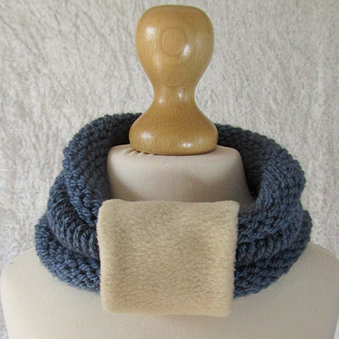 Blue Kids Scarf With Removable Cuff, By JaDa Crafts Ireland - Parade Handmade