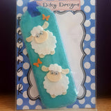 Blue Sheep Bookmark. White Face, By Ditsy Designs - Parade Handmade