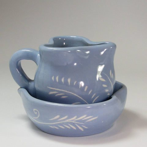 Blue Sugar and Creamer Set, By Kurilla Pottery - Parade Handmade