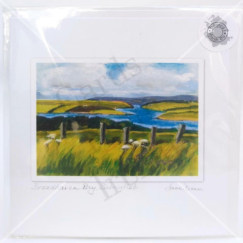 Broadhaven Bay, Belmullet, Art Card, By Jane Dunn - Parade Handmade
