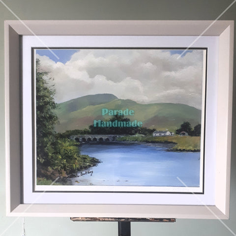 'Burrishoole Bridge', Limited Edition, 2/20, Framed Print, By Nuala Brett-King - Parade Handmade