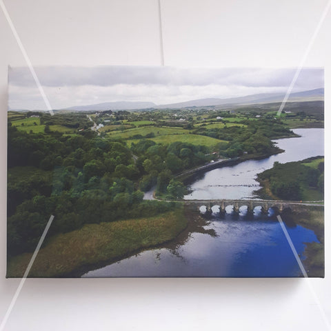 Burrishoole Bridge, Newport Co Mayo, Canvas Print, By Kevin Smith - Parade Handmade