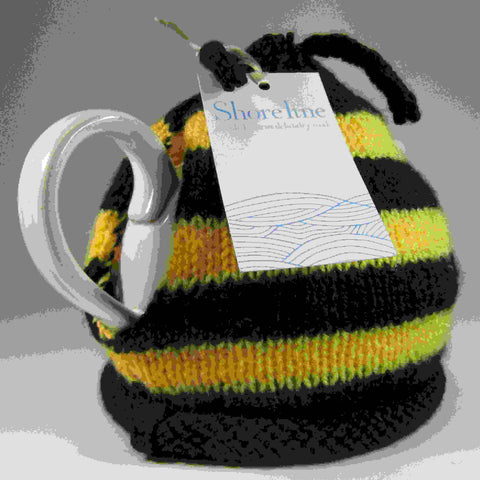 Buzzy Bee Tea Cosy, by Shoreline - Parade Handmade
