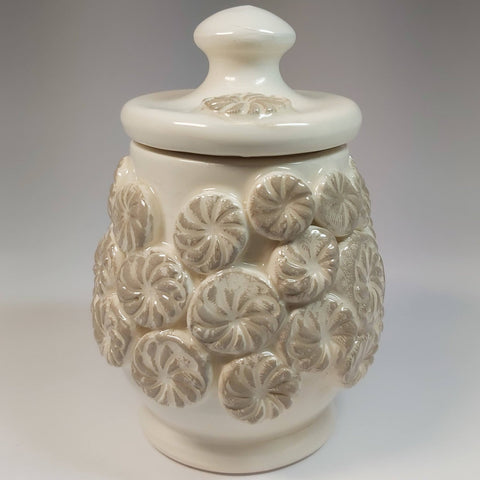 Canister Pot In Beige, By Kurilla Pottery. Parade-Handmade