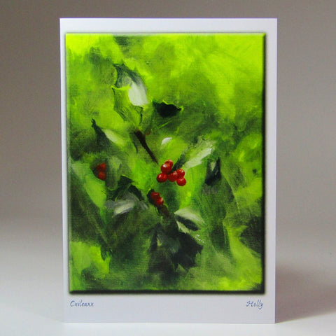 Christmas Cards, x Six, 'Holly' & 'Cuileann', by Nuala Brett-King - Parade Handmade