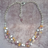 Chunky Cluster Necklace In Peach, By Lapanda Designs - Parade Handmade