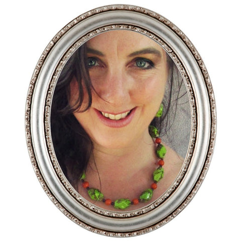 Chunky Lime Green & Orange Necklace, By Lapanda Designs - Parade Handmade
