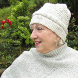 Cream Cable Hand Knit Hat, By Shoreline - Parade Handmade