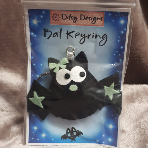Creepy Bat Keyring, By Ditsy Designs - Parade Handmade