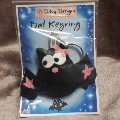 Creepy Bat Keyrings, By Ditsy Designs - Parade Handmade