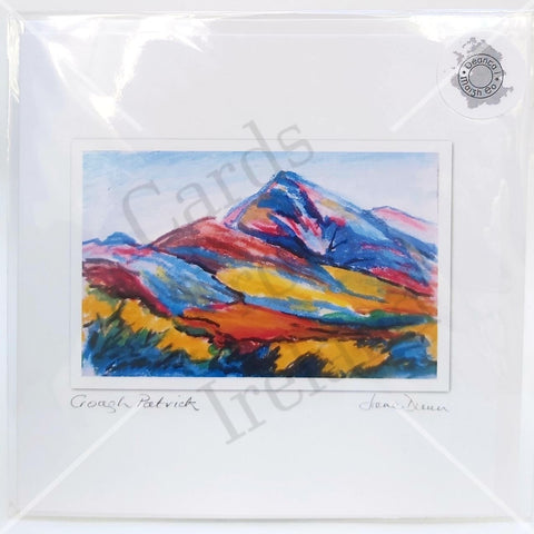 Croagh Patrick, Art Card By Jane Dunn - Parade Handmade