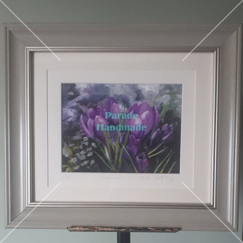 'Crocuses', Limited Edition Giclée Print, By Nuala Brett-King - Parade Handmade
