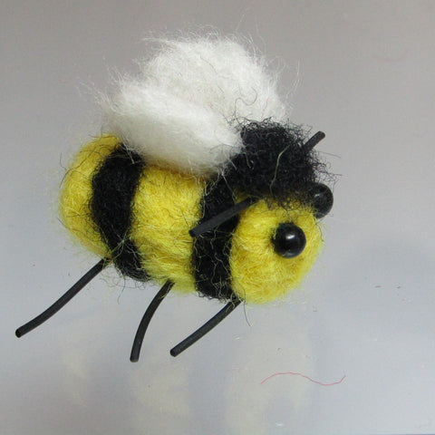 Cute Bumble Bee, Needle Felted Brooch, By Parade Handmade - Parade Handmade