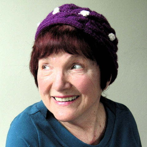 Cute Cable Knit Deep Plum Hat, By Jo's Knits - Parade Handmade