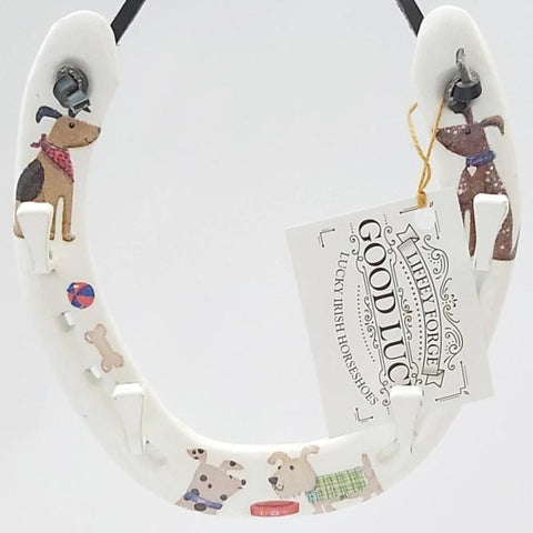 Cute Dog Inspired Lucky Horseshoe, By Liffey Forge - Parade Handmade