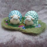 Cute Sheep Pair in a Wooly field. By Ditsy Designs, Co Mayo - Parade Handmade