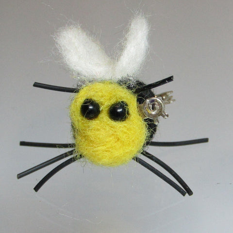 Cute, Bumble Bee Felted Wool Brooch,  By Parade Handmade - Parade Handmade