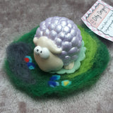 Cutey Lilac Sheep in her own wooly field,By Ditsy Designs, Co Mayo - Parade Handmade
