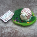 Cutey Pink Sheep in her own wooly field, By Ditsy Designs, Co Mayo - Parade Handmade