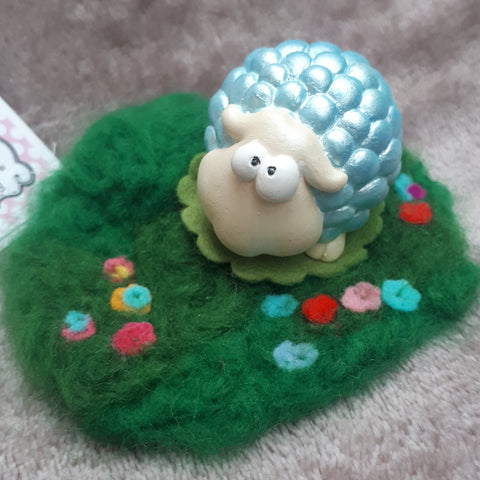 Cutey Sheep in his own wooly field. By Ditsy Designs, Co Mayo - Parade Handmade