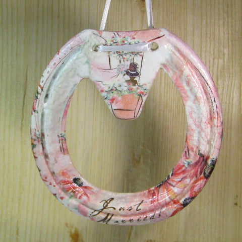 Decorated, 'Just Married', Lucky Horseshoe, By Liffey Forge - Parade Handmade