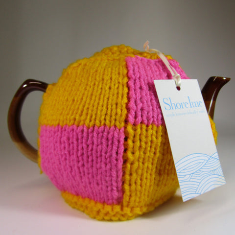 Delicious, battenburg slice style Tea Cosy, by Shoreline - Parade Handmade